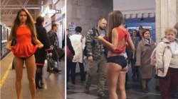 Anna también decidió realizar una osada protesta en el metro de San Petesburgo. En su provocativa manifestación, la joven levantó su falda en las diferentes estaciones.