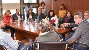 Rossi en el encuentro con los diputados provinciales del PJ.