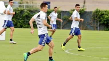 Argentina hizo una práctica formal de fútbol y Scaloni paró el equipo que jugaría contra Guatemala.