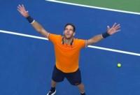 Del Potro venció a Isner y  ahora juega con Nadal en la semi del US Open.