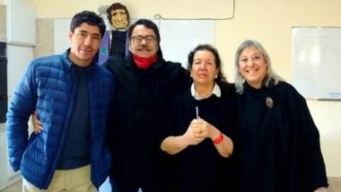 """Los responsables de la edición del libro """"Carpinteras  + 3""""."""
