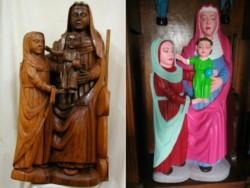 Esta Virgen tallada en madera data del Siglo XV, quedó más parecida a una caricatura de Los Simpson que a una reliquia medieval.
