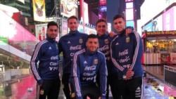 Los jugadores de la Selección Argentina, de paseo por Nueva York.