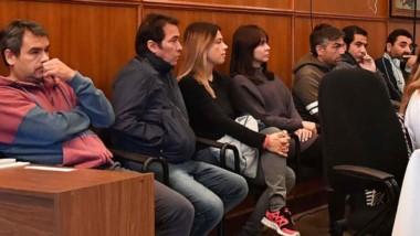 Apuntados. Figueroa, Correa, Mac Leod, Souza, Gatica, Lüters y Ramón, en el banquillo de los acusados.