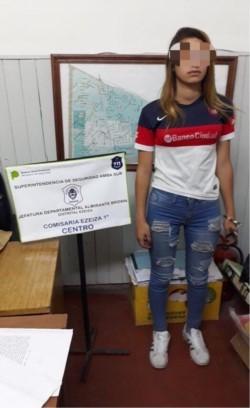 Aldana Díaz, la joven empleada doméstica que entregó a víctima a los delincuentes.