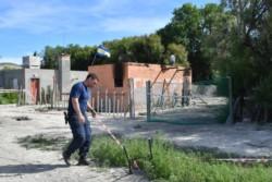 La vivienda siniestrada está ubicada en Gaiman Nuevo. (Foto: Daniel Feldman / Jornada)