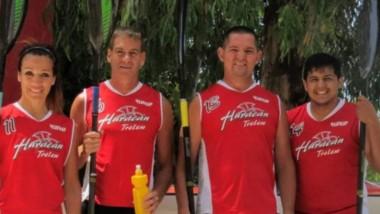 Cecilia Luna, José Fernández, Horacio Quiroga, y Abdías Chávez, palistas de Huracán que participarán.