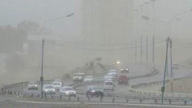 A las 10 de la mañana se registraron las ráfagas más fuertes que superaron los 80 km.