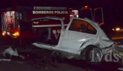 Cuatro personas murieron en el accidente (foto La Vanguardia del Sur)