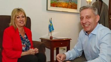 Sonrisas. La jefa comunal y el mandatario alcanzaron algunas coincidencias para un caliente año electoral.