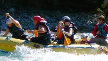 El rafting. Uno de los atractivos que se ofrecen en la Cordillera para atraer a los turistas.