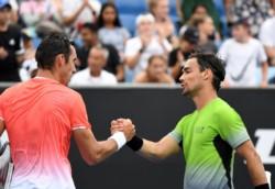 No pudo ser: Mayer quedó fuera del primer Grand Slam del año ante Fognini.