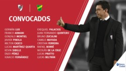 Marcelo Gallardo confirmó la nómina de 18 concentrados para el encuentro en el que River recibirá a Defensa.