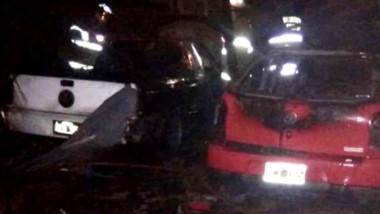 El siniestro ocurrió en la calle El Ceibo al 800 del barrio Los Aromos. Los autos estaban sin sus baterías.