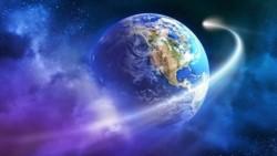 La Tierra gira alrededor del Sol, con una órbita elíptica de 930 millones de kilómetros, a una velocidad media de 107.280 kilómetros por hora.