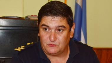 Al combate.  Ariel González presto para una lucha ardua contra el crimen en la zona del valle.
