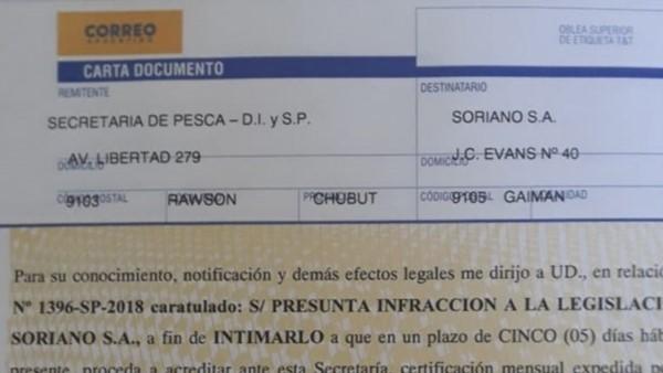 Pesca intimó a Soriano y amenaza con quitarle la concesión de las algas