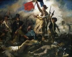 La genial obra del artista galo, que remite a la toma de la Bastilla y la Revolución de 1789.
