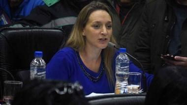Claudia Bard, concejal , presidente del bloque del PJ-FPV.