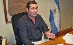 Nelson Iribarren, intendente de Sierra Grande (foto @adnrionegro)