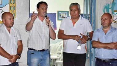 Peronistas. Desde la izquierda, Gustavo Sastre, Maderna, Béliz y Ricardo Sastre sellaron otra alianza política rumbo a las elecciones de este año.
