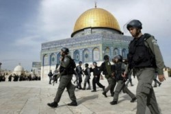 La ciudad de Jerusalén está tomada y controlada por fuerzas militares de Israel.