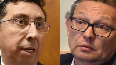 Chispas. Lleral (izquierda) y Gélvez, en una discusión muy dura.