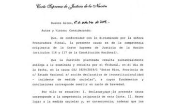 La Resolución por parte de la Corte Suprema de Justicia.