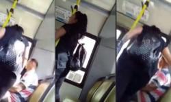 El video de una sanjuanina increpando a su novio en el micro porque saludó a otra chica, se viralizó.