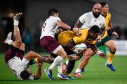 Australia se impone sin mucho brillo a Georgia en el Mundial de Rugby.