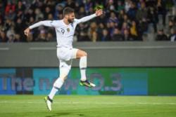Giroud marcó el único tanto en el triunfo de los campeones del mundo 1-0 ante Islandia como visitante.