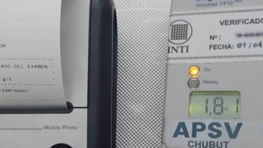 El test de APSV arrojó un positivo de alcohol en sangre de 1,81 g/litro.