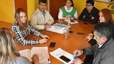 El encuentro entre trabajadores y concejales.