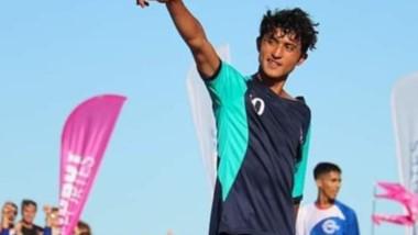 Volante en el fútbol  tradicional, Nahuel Rokenbach se proclamó subcampeón nacional en los Juegos de Playa.