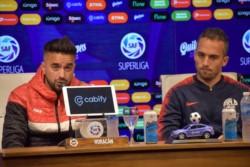 Fernando Belluschi y Rodrigo Gómez dialogaron en la previa al clásico entre Huracán y San Lorenzo.