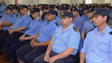 La ceremonia de ascenso de los agentes de la Policía del Chubut que se desarrollo en Comodoro Rivadavia.