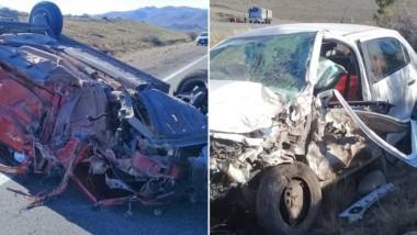 El accidente se produjo ayer antre un Renault Stepway y un VW Gol.