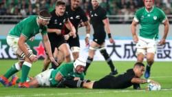 Nueva Zelanda pasó por arriba a la defensa más sólida del torneo, Irlanda sólo había recibido dos tries.