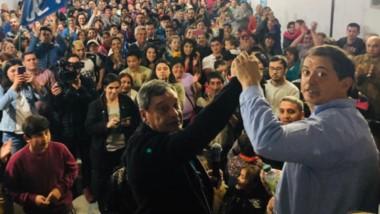 Cierre. Raúl Ibarra y Jorge Orcesi encabezan la lista de Chubut al Frente en Lago Puelo
