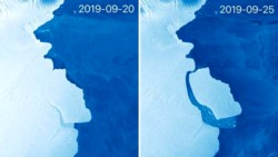 Colosal. El iceberg tiene una superficie de 1.600 kilómetros cuadrados, su grosor estimado es de unos 210 metros, y contiene 315.000 millones de toneladas de hielo.