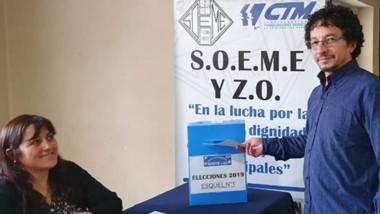 Voto cantado. Osorio será líder del SOEME por tercer período consecutivo y espera más logros en el oeste.