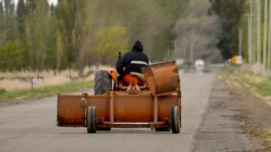 Ruta 7 hoy, con pavimento pero también sin perder su condición de camino rural.