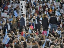 """Macri, que busca su reelección, arengó a los suyos: """"Sí, se puede. Se puede dar vuelta esta elección""""."""