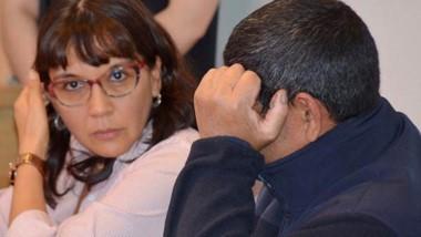 Abel Marchán participó de la audiencia de control en los tribunales.
