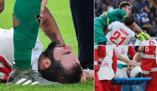 En su partido 200 en el Calcio, Higuaín sufrió un golpe de KO. Luego del partido, lo trasladaron al hospital.