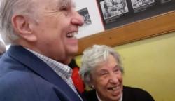 Sanguinetti se encontró con su maestra.