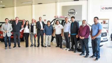 La entrega se realizó en la Concesionaria Surisan SA en Puerto Madryn y en el acto participaron autoridades de la Asociación de Bomberos.