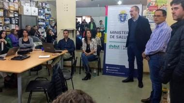 EL ministro de Salud, Fabián Puratich en Esquel, en la presentación del protocolo contra el Hantavirus.
