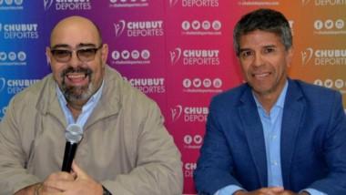 Adrián Febrero, titular de la URVCh y David Cárdenas, gerente de Chubut Deportes, hicieron la presentación.
