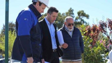 Alfredo Montes, Gerente de Energía se reunió con Sebastián De La Vallina, de Obras y Servicios Públicos.